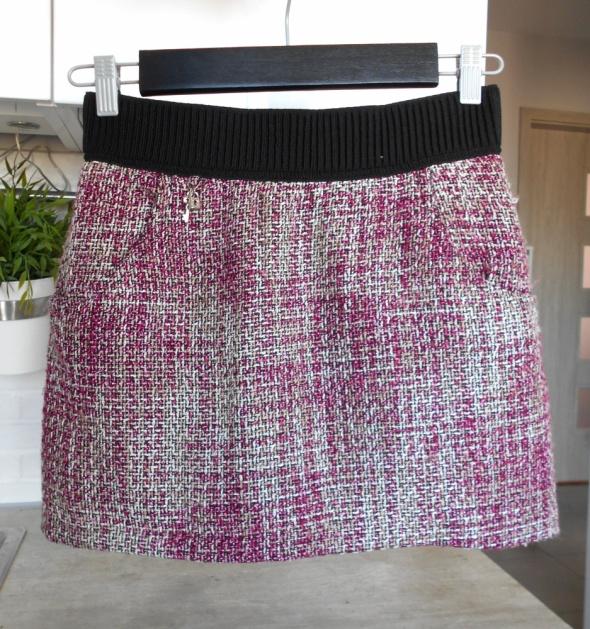 Spódnice HM spódniczka mini tweed zamek zip