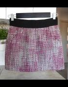 HM spódniczka mini tweed zamek zip...