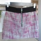 HM spódniczka mini tweed zamek zip