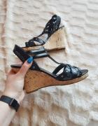 Jak nowe sandałki na koturnie koturny paski dzety...