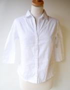 Koszula Biała H&M M 38 Paski Elegancka Do Pracy Biel...
