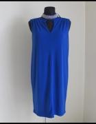 Piękna kobaltowa sukienka Wallis NOWA Z METKAMI 40L 42 XL...