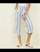 New Look spodnie w paski z wiązaniem...