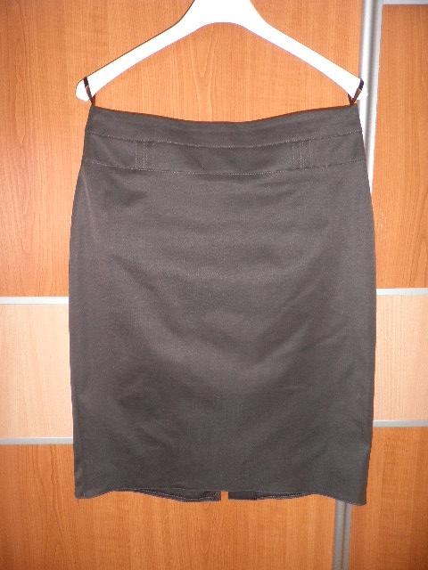 Spódnice Brązowa elegancka spódnica ołówkowa S