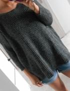 Jacqueline de Yong sweter szary oversize ciepły...
