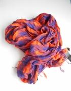 HM apaszka chusta w kratkę pomaranczowa neon...
