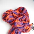 HM apaszka chusta w kratkę pomaranczowa neon