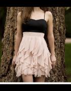 Sukienka H&M falbanki S pudrowy róż...