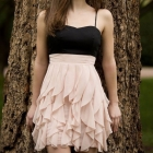 Sukienka H&M falbanki S pudrowy róż