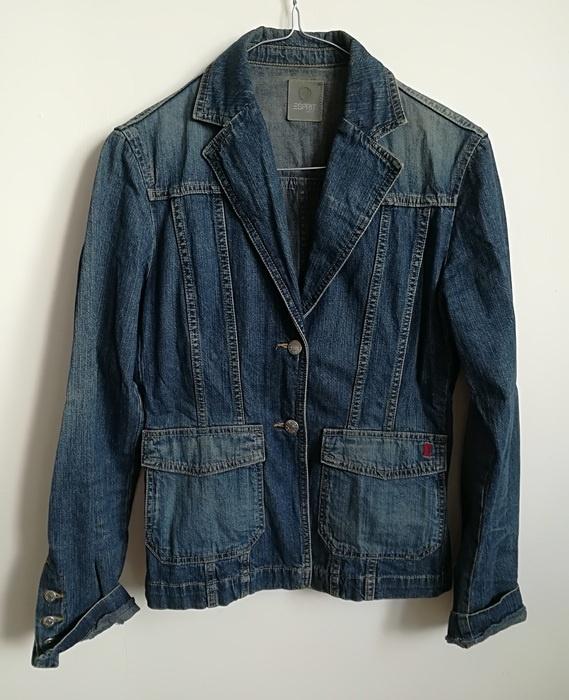 Odzież wierzchnia Esprit jeansowa kurtka S