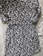 Piękna sukienka H&M granatowa w białe kwiaty S...