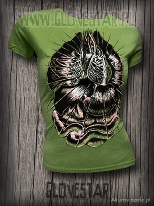 Zielona khaki koszulka z flakami Glovestar...