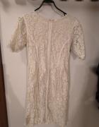Kremowa koronkowa sukienka Zara rozmiar M...