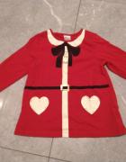 Piękna bluzeczka mikołaj mikołajki pani mikołajowa H&M 92...