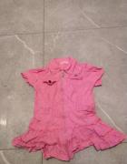 Różowa sukienka na zamek