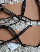 h&m sandały klapki płaskie czarne nowe 37...