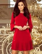 LUCY plisowana wygodna sukienka CZERWONA S M L XL XXL...