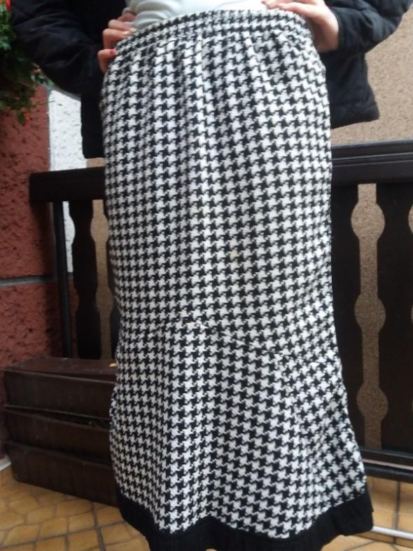 Spódnice Spódnica czarno biała długa gumka r 46 48