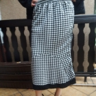Spódnica czarno biała długa gumka r 46 48