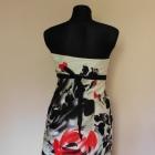 Debenhams sukienka ecru midi kwiaty 36