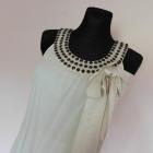 Vero Moda sukienka ecru jedwab 36