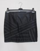 Skórzana mini spódnica...
