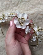 Diadem ślubny opaska spinka ozdobna do włosów ślubna biżuteria ręcznie