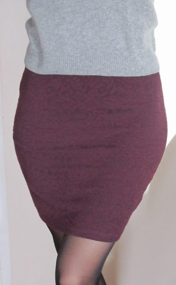 Spódnice Ołówkowa spódnica burgund