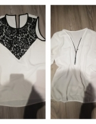 dwie bluzeczki z ozdobami...