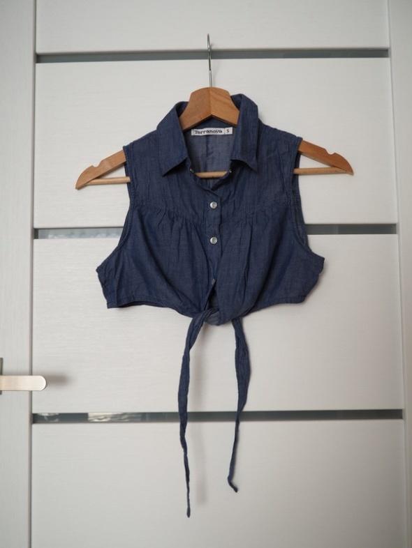 Jeansowe bolerko bluzka 34...