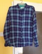Koszula kratka w kratkę flanelowa XL M 40 38 niebi...