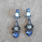 Parfois nowe kolczyki kryształki błękitne baby blue długie