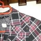 Koszulowa tunika w kratkę