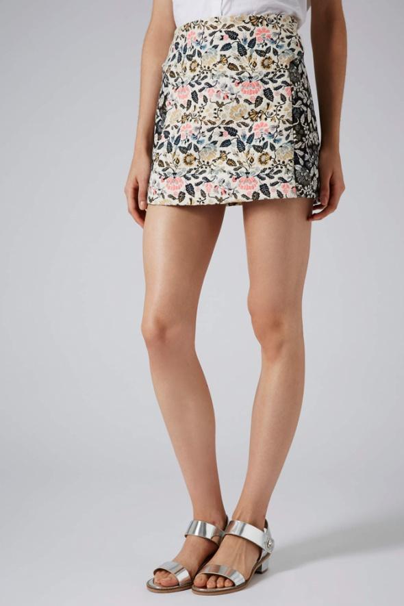 Spódnice Topshop żakardowa spódnica XXS