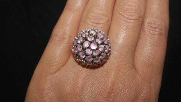 Pierścionki duży koktajlowy pierścionek