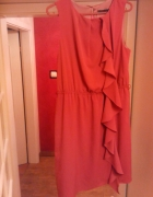 ceglasta sukienka Zara 36 38