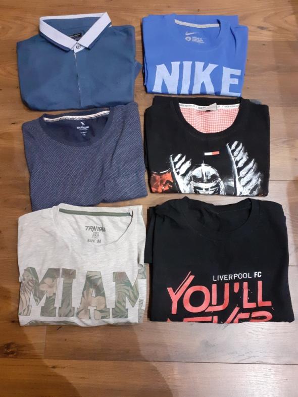Koszulki i t-shirty T shirt i polo 6 szt rozm S i M