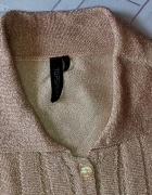 Złota błyszcząca bluzka Top Shop