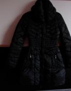 czarna kurtka czarny płaszcz Amisu New Yorker xs 34 pikowany ta...