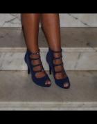 Sandały szpilki cyrkonie siatka 37 38 wesele sylwe...