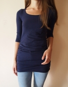 Granatowa bluzka tunika ciążowa H&M 34XS...