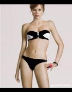 Czarno biała góra strój kąpielowy bikini h&m xs 34...