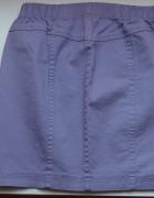 Fioletowa spódniczka spódnica jeansowa jeans xxs 3...