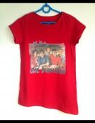 One direction koszulka fanki dłuższy bok czerwona...