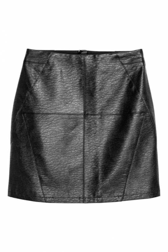 Spódnice czarna spódniczka eco skóra h&m 32 xxs 34 xs zamek