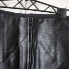 czarna spódniczka eco skóra h&m 32 xxs 34 xs zamek