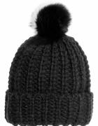 czarna wełniana czapka z pomponem h&m 80proc wełna...