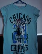 koszulka t shirt błękitna z napisami Cubus 134 140...