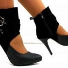 Czółenka szpilki obcasy sandały czarne 36 37 38