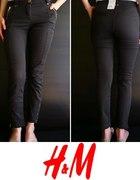 Grafitowe spodnie rurki h&m xs 34...